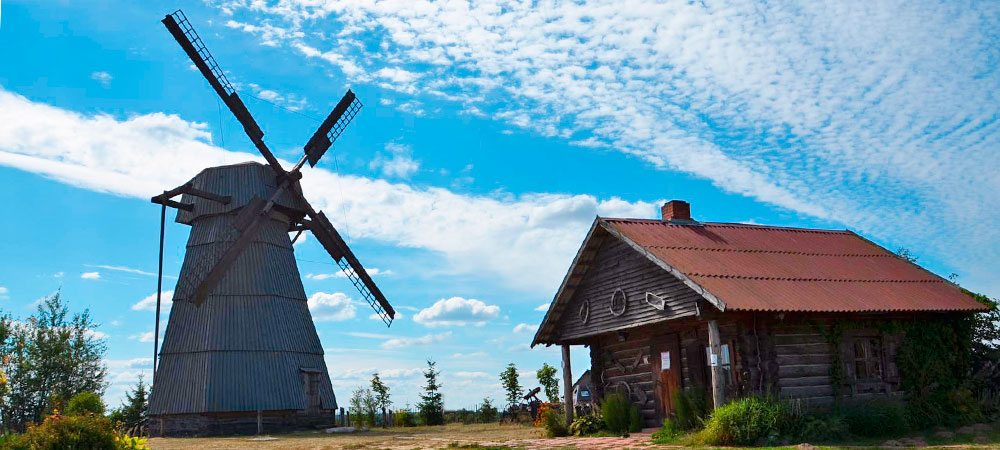 Windmill and miller's house in Dudutki