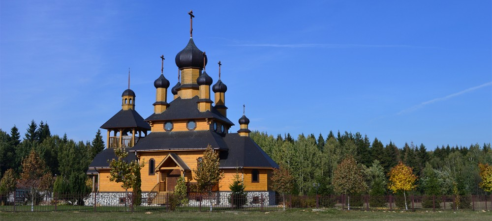 Wooden church in Dudutki